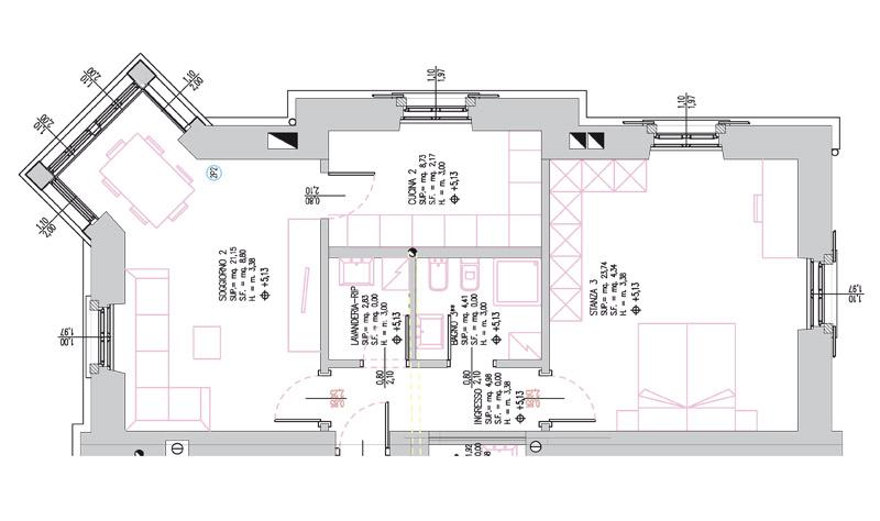 Appartamenti in vendita centro trento for Planimetria appartamento