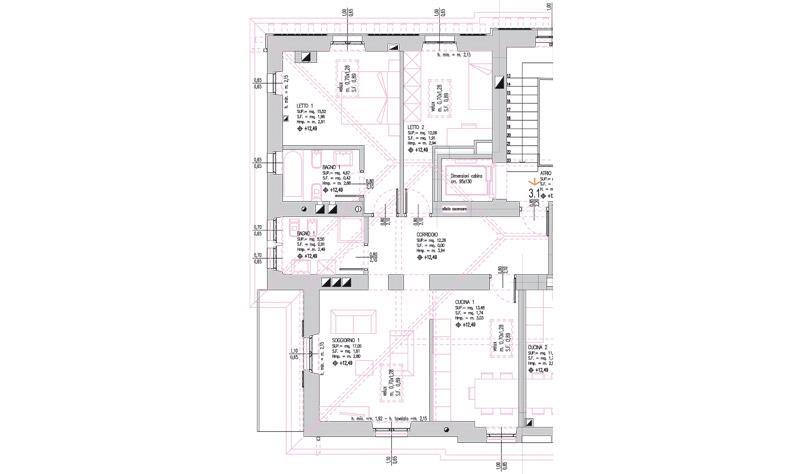 Appartamenti in vendita centro trento for Planimetria dell appartamento in vendita